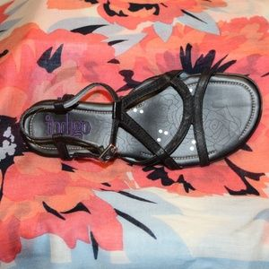 Indigo Women 7 leather upper sandal black
